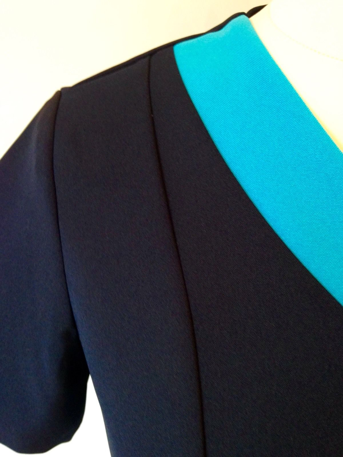 Navy Tunic with Bright Turquoise Trim