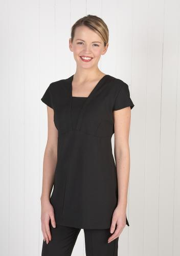 Stretch V Neck Panel Tunic