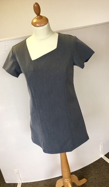 Asymmetric Neckline Tunic With Side Pocket