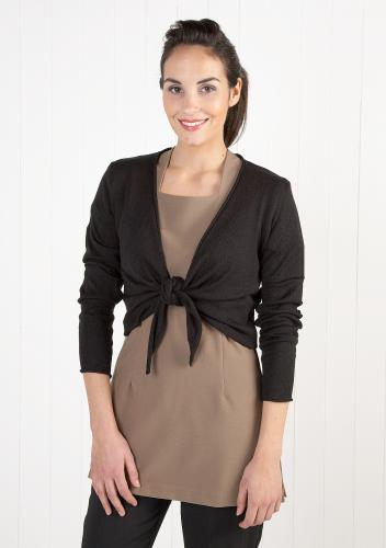 Cotton Blend Tie-Front Cardigan - 3 Colours