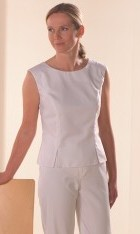 Sleeveless Polycotton Tunic White