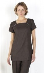 Linen Look Square Neck Tunic - Slate