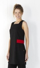 Sleeveless Longline Tunic with Contrasting Mock Belt