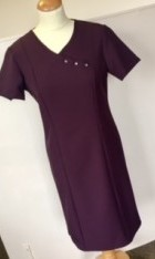 Crossover Dress With Diamante Buttons