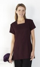 C081 Stretch square Neck Tunic