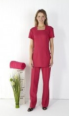 Square Neck Tunic - Raspberry