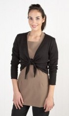 Cotton Blend Tie-Front Shrug