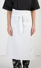 White 100% Cotton Chefs Waist Apron 30