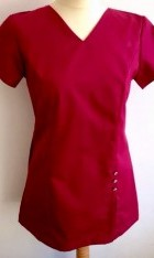 Polycotton V Neck Clinic Scrubs Tunic Side Pocket