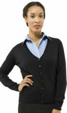 Classic V Neck Work Cardigan Navy