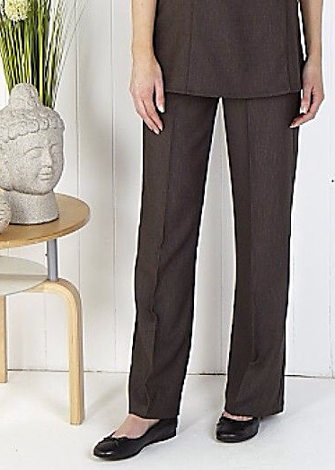 Linen Look Bootleg Trousers